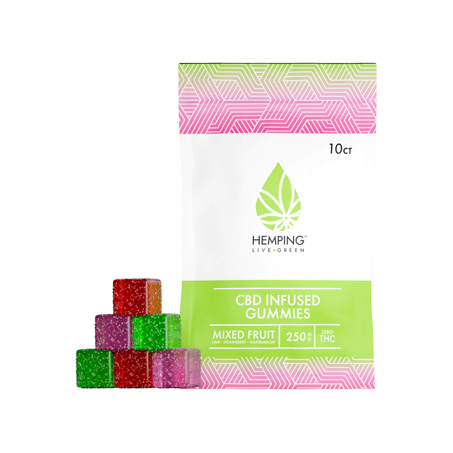Broad Spectrum CBD Infused Gummies 250mg (Mixed Fruit)