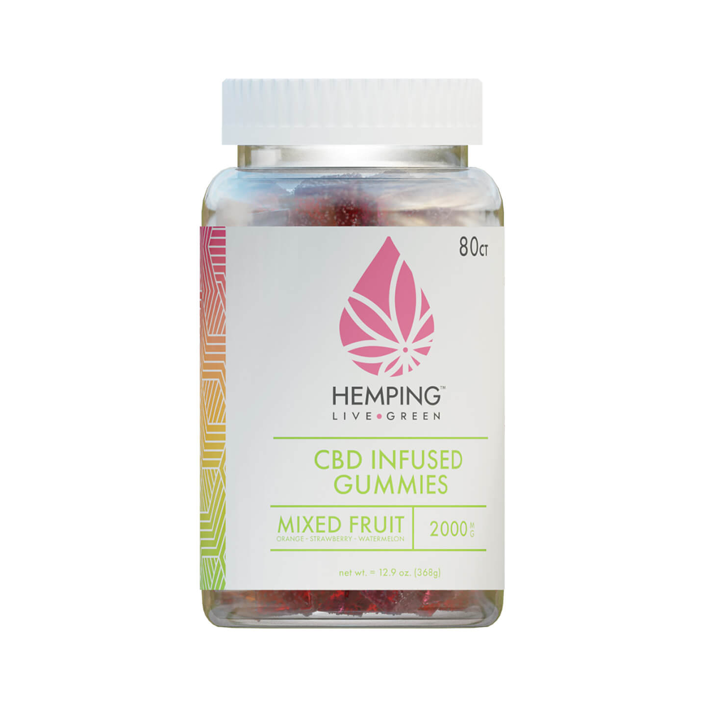 Jar of Broad Spectrum CBD Infused Gummies 250mg (Mixed Fruit)